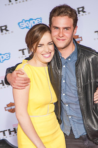 HOLLYWOOD, CA - NOVEMBER 04: Actors Elizabeth Henstridge and Iain De Caestecker arrive at the premiere of Marvel's 'Thor: The Dark World' at the El Capitan Theatre on Monday, November 4, 2013 in Hollywood, California. (Photo by Tom Sorensen/Moovieboy Pictures)