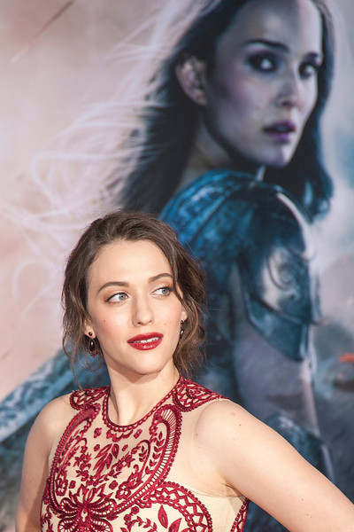 HOLLYWOOD, CA - NOVEMBER 04: Actress Kat Dennings arrives at the premiere of Marvel's 'Thor: The Dark World' at the El Capitan Theatre on Monday, November 4, 2013 in Hollywood, California. (Photo by Tom Sorensen/Moovieboy Pictures)