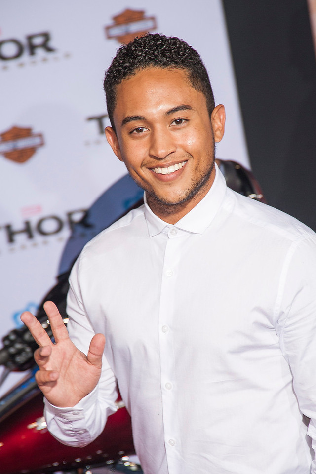 HOLLYWOOD, CA - NOVEMBER 04: Actor Tahj Mowry arrives at the premiere of Marvel's 'Thor: The Dark World' at the El Capitan Theatre on Monday, November 4, 2013 in Hollywood, California. (Photo by Tom Sorensen/Moovieboy Pictures)