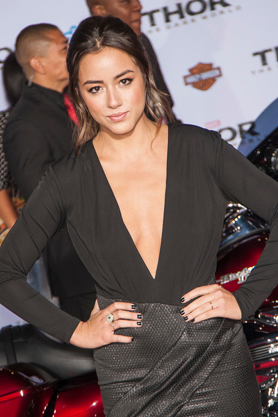HOLLYWOOD, CA - NOVEMBER 04: Actress Chloe Bennet arrives at the premiere of Marvel's 'Thor: The Dark World' at the El Capitan Theatre on Monday, November 4, 2013 in Hollywood, California. (Photo by Tom Sorensen/Moovieboy Pictures)