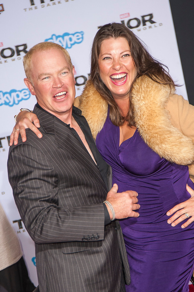HOLLYWOOD, CA - NOVEMBER 04: Actor Neal McDonough (L) and Ruve McDonough arrive at the premiere of Marvel's 'Thor: The Dark World' at the El Capitan Theatre on Monday, November 4, 2013 in Hollywood, California. (Photo by Tom Sorensen/Moovieboy Pictures)