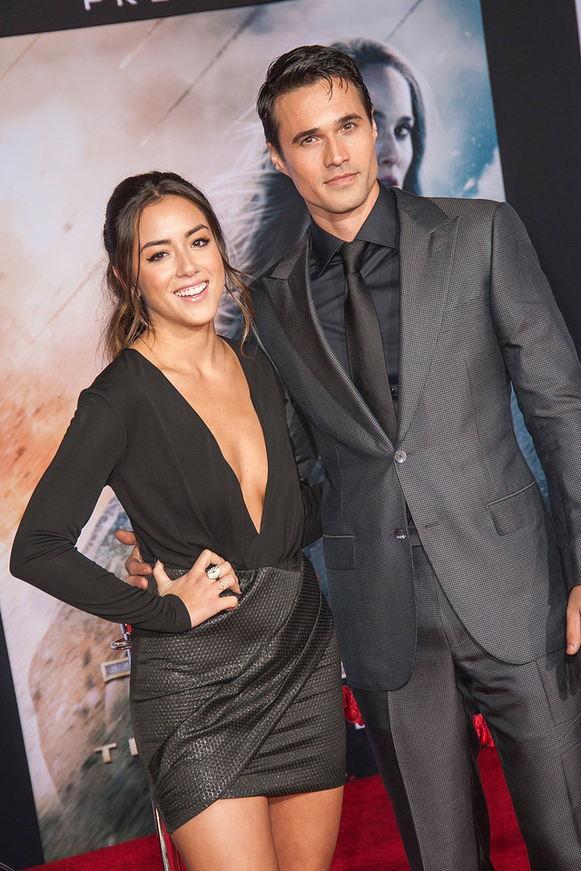 HOLLYWOOD, CA - NOVEMBER 04: Actors Chloe Bennet and Brett Dalton arrive at the premiere of Marvel's 'Thor: The Dark World' at the El Capitan Theatre on Monday, November 4, 2013 in Hollywood, California. (Photo by Tom Sorensen/Moovieboy Pictures)