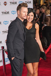 HOLLYWOOD, CA - NOVEMBER 04: Composer Brian Tyler and Venus Faas arrive at the premiere of Marvel's 'Thor: The Dark World' at the El Capitan Theatre on Monday, November 4, 2013 in Hollywood, California. (Photo by Tom Sorensen/Moovieboy Pictures)