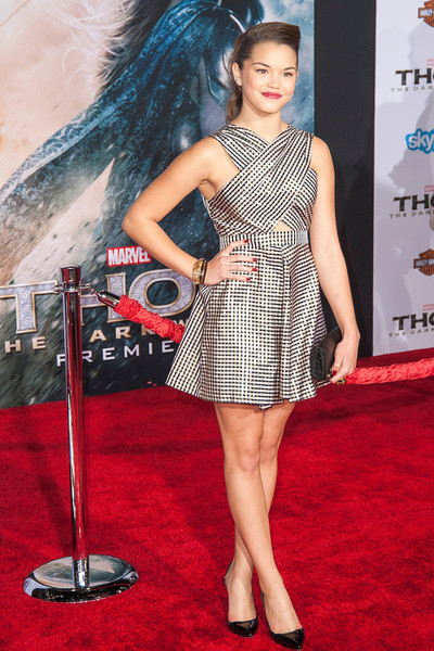 HOLLYWOOD, CA - NOVEMBER 04: Actress Paris Berelc arrives at the premiere of Marvel's 'Thor: The Dark World' at the El Capitan Theatre on Monday, November 4, 2013 in Hollywood, California. (Photo by Tom Sorensen/Moovieboy Pictures)
