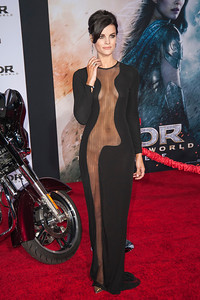 HOLLYWOOD, CA - NOVEMBER 04: Actress Jaimie Alexander arrives at the premiere of Marvel's 'Thor: The Dark World' at the El Capitan Theatre on Monday, November 4, 2013 in Hollywood, California. (Photo by Tom Sorensen/Moovieboy Pictures)