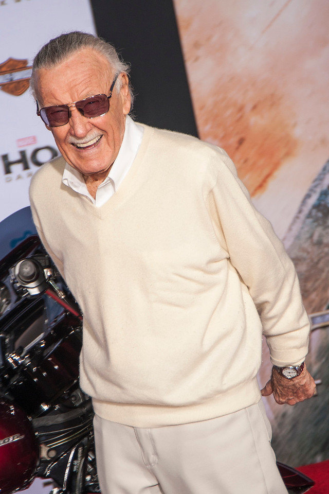 HOLLYWOOD, CA - NOVEMBER 04: Executive producer Stan Lee arrives at the premiere of Marvel's 'Thor: The Dark World' at the El Capitan Theatre on Monday, November 4, 2013 in Hollywood, California. (Photo by Tom Sorensen/Moovieboy Pictures)