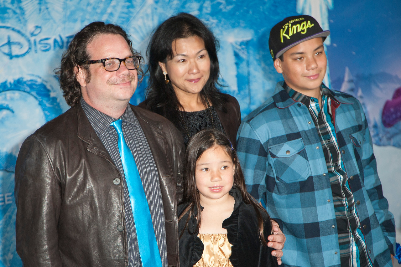 HOLLYWOOD, CA - NOVEMBER 19: Composer Christophe Beck and family arrive at the premiere of Walt Disney Animation Studios' 'Frozen'at the El Capitan Theatre on Tuesday, November 19, 2013 in Hollywood, California. (Photo by Tom Sorensen/Moovieboy Pictures)