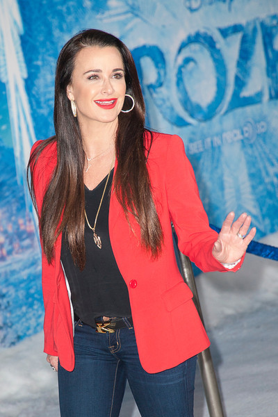 HOLLYWOOD, CA - NOVEMBER 19: TV personality Kyle Richards arrives at the premiere of Walt Disney Animation Studios' 'Frozen'at the El Capitan Theatre on Tuesday, November 19, 2013 in Hollywood, California. (Photo by Tom Sorensen/Moovieboy Pictures)