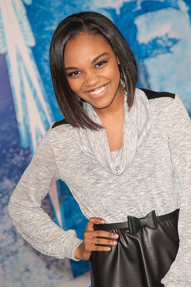 HOLLYWOOD, CA - NOVEMBER 19: China Anne McClain arrives at the premiere of Walt Disney Animation Studios' 'Frozen'at the El Capitan Theatre on Tuesday, November 19, 2013 in Hollywood, California. (Photo by Tom Sorensen/Moovieboy Pictures)