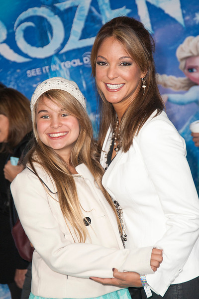 HOLLYWOOD, CA - NOVEMBER 19: Actress Eva LaRue and daughter arrive at the premiere of Walt Disney Animation Studios' 'Frozen'at the El Capitan Theatre on Tuesday, November 19, 2013 in Hollywood, California. (Photo by Tom Sorensen/Moovieboy Pictures)