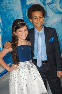 HOLLYWOOD, CA - NOVEMBER 19: Actors Eva Bella and Tyree Brown arrive at the premiere of Walt Disney Animation Studios' 'Frozen'at the El Capitan Theatre on Tuesday, November 19, 2013 in Hollywood, California. (Photo by Tom Sorensen/Moovieboy Pictures)