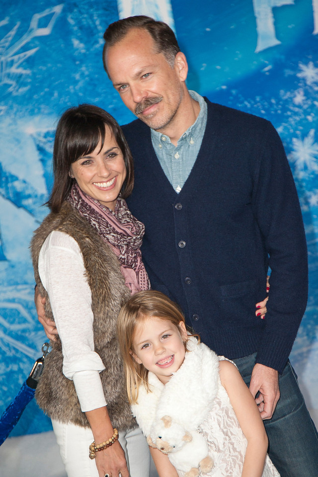 HOLLYWOOD, CA - NOVEMBER 19: Actress Constance Zimmer, Russ Lamoureux and Colette Zoe Lamoureux arrive at the premiere of Walt Disney Animation Studios' 'Frozen'at the El Capitan Theatre on Tuesday, November 19, 2013 in Hollywood, California. (Photo by Tom Sorensen/Moovieboy Pictures)