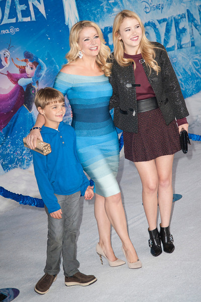 HOLLYWOOD, CA - NOVEMBER 19: Actors Melissa Joan Hart (C) and Taylor Spreitler (R) and guest arrive at the premiere of Walt Disney Animation Studios' 'Frozen'at the El Capitan Theatre on Tuesday, November 19, 2013 in Hollywood, California. (Photo by Tom Sorensen/Moovieboy Pictures)
