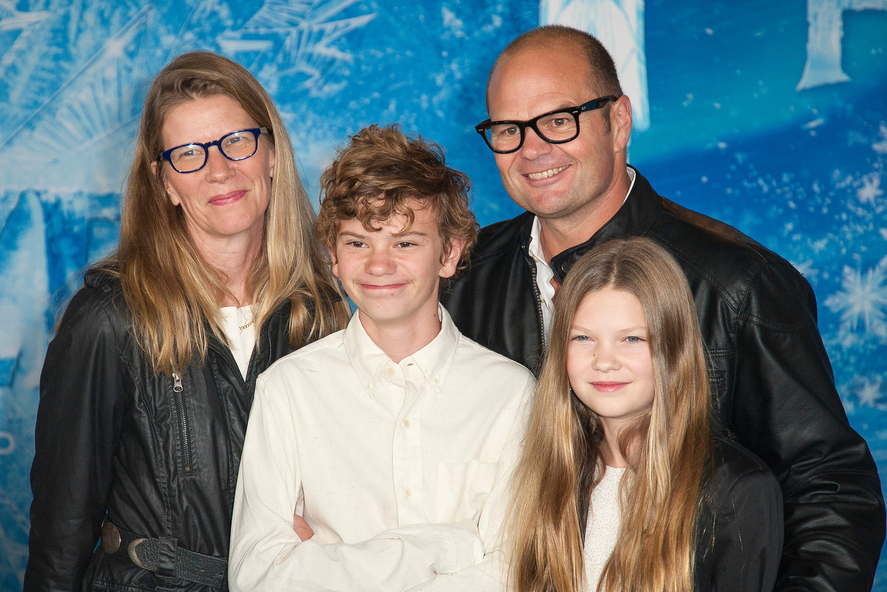HOLLYWOOD, CA - NOVEMBER 19: Actor Chris Bauer and family arrive at the premiere of Walt Disney Animation Studios' 'Frozen'at the El Capitan Theatre on Tuesday, November 19, 2013 in Hollywood, California. (Photo by Tom Sorensen/Moovieboy Pictures)