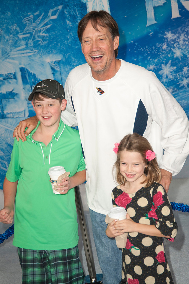 HOLLYWOOD, CA - NOVEMBER 19: Actor Kevin Sorbo and family arrive at the premiere of Walt Disney Animation Studios' 'Frozen'at the El Capitan Theatre on Tuesday, November 19, 2013 in Hollywood, California. (Photo by Tom Sorensen/Moovieboy Pictures)