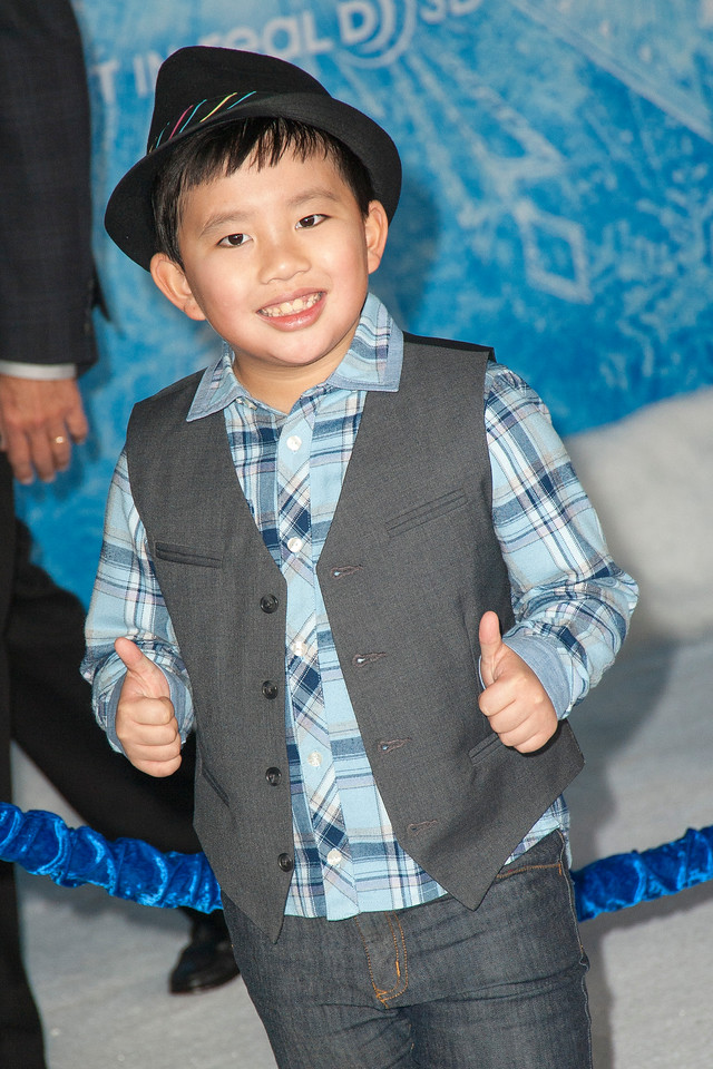 HOLLYWOOD, CA - NOVEMBER 19: Actor Albert Tsai arrives at the premiere of Walt Disney Animation Studios' 'Frozen'at the El Capitan Theatre on Tuesday, November 19, 2013 in Hollywood, California. (Photo by Tom Sorensen/Moovieboy Pictures)