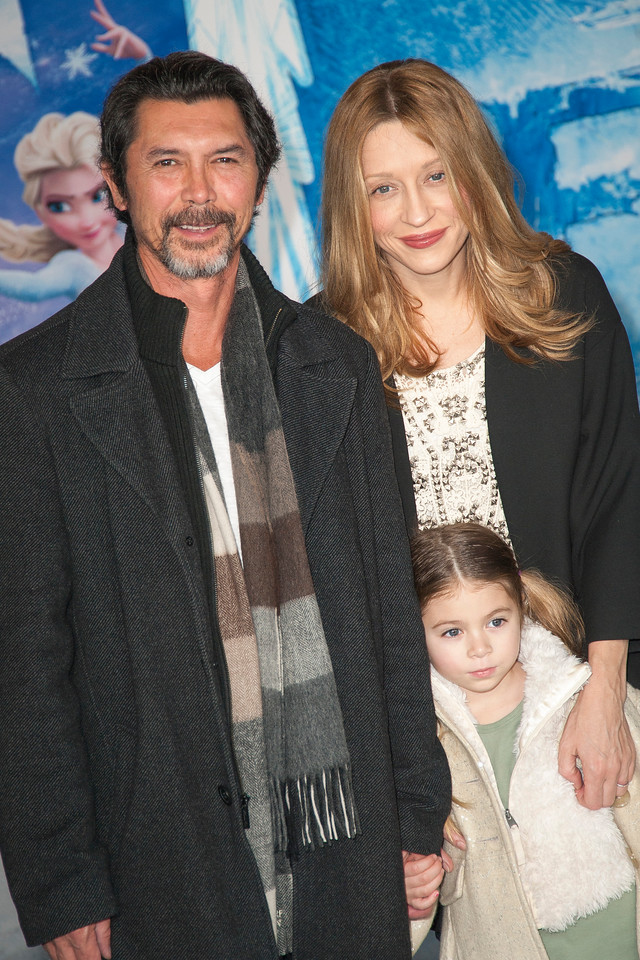 HOLLYWOOD, CA - NOVEMBER 19: Actor Lou Diamond Phillips, wife Yvonne Boismier Phillips and daughter arrive at the premiere of Walt Disney Animation Studios' 'Frozen'at the El Capitan Theatre on Tuesday, November 19, 2013 in Hollywood, California. (Photo by Tom Sorensen/Moovieboy Pictures)