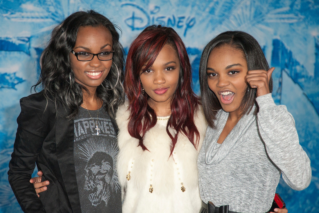 HOLLYWOOD, CA - NOVEMBER 19: (L-R) Sierra Aylina McClain, Lauryn McClain and China Anne McClain arrrive at the premiere of Walt Disney Animation Studios' 'Frozen'at the El Capitan Theatre on Tuesday, November 19, 2013 in Hollywood, California. (Photo by Tom Sorensen/Moovieboy Pictures)