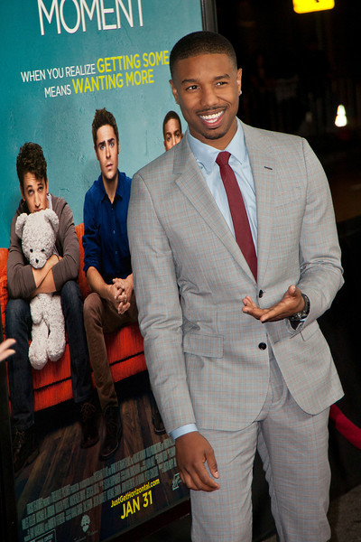LOS ANGELES, CA - JANUARY 27: Actor Michael B. Jordan arrives at the premiere of Focus Features' 'That Awkward Moment' at Regal Cinemas L.A. Live on January 27, 2014 in Los Angeles, California. (Photo by Tom Sorensen/Moovieboy Pictures)