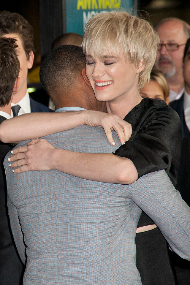 LOS ANGELES, CA - JANUARY 27: Actors Michael B. Jordan and Mackenzie Davis arrive at the premiere of Focus Features' 'That Awkward Moment' at Regal Cinemas L.A. Live on January 27, 2014 in Los Angeles, California. (Photo by Tom Sorensen/Moovieboy Pictures)