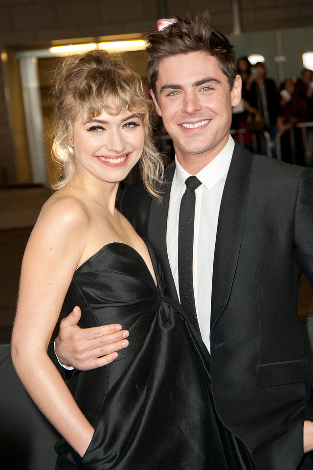 LOS ANGELES, CA - JANUARY 27: Actors Imogen Poots and Zac Efron arrive at the premiere of Focus Features' 'That Awkward Moment' at Regal Cinemas L.A. Live on January 27, 2014 in Los Angeles, California. (Photo by Tom Sorensen/Moovieboy Pictures)