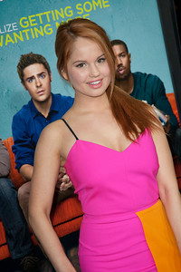 LOS ANGELES, CA - JANUARY 27: Actress Debby Ryan arrives at the premiere of Focus Features' 'That Awkward Moment' at Regal Cinemas L.A. Live on January 27, 2014 in Los Angeles, California. (Photo by Tom Sorensen/Moovieboy Pictures)