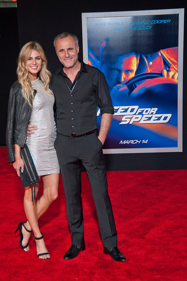 HOLLYWOOD, CA - MARCH 06: Actor Timothy V. Murphy (R) and Caitlin Manley arrive at the premiere of DreamWorks Pictures' 'Need For Speed' at TCL Chinese Theatre on March 6, 2014 in Hollywood, California. (Photo by Tom Sorensen/Moovieboy Pictures)