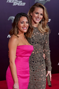 HOLLYWOOD, CA - MARCH 06: Actresses Actress Inbar Lavi and Shantel VanSanten arrive at the premiere of DreamWorks Pictures' 'Need For Speed' at TCL Chinese Theatre on March 6, 2014 in Hollywood, California. (Photo by Tom Sorensen/Moovieboy Pictures)