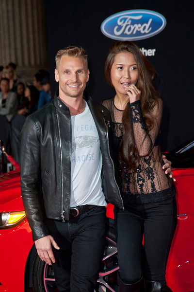 HOLLYWOOD, CA - MARCH 06: Celebrity trainer Steve Jordan (L) and Yuki Kimura arrive at the premiere of DreamWorks Pictures' 'Need For Speed' at TCL Chinese Theatre on March 6, 2014 in Hollywood, California. (Photo by Tom Sorensen/Moovieboy Pictures)