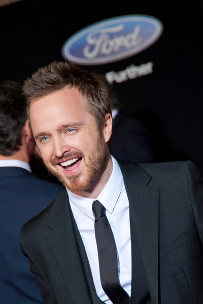 HOLLYWOOD, CA - MARCH 06: Actor Aaron Paul arrives at the premiere of DreamWorks Pictures' 'Need For Speed' at TCL Chinese Theatre on March 6, 2014 in Hollywood, California. (Photo by Tom Sorensen/Moovieboy Pictures)