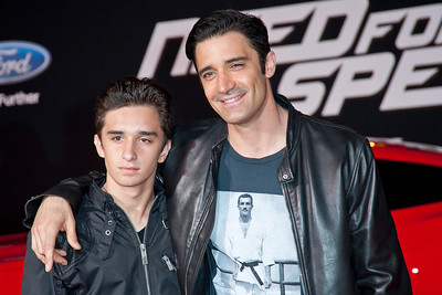 HOLLYWOOD, CA - MARCH 06: TV personality Giles Marini (R) and his son Georges Marini arrive at the premiere of DreamWorks Pictures' 'Need For Speed' at TCL Chinese Theatre on March 6, 2014 in Hollywood, California. (Photo by Tom Sorensen/Moovieboy Pictures)