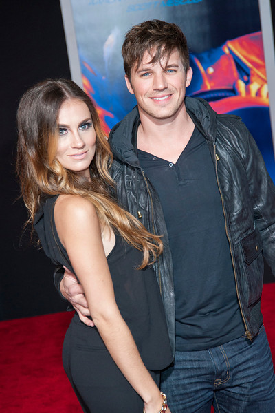 HOLLYWOOD, CA - MARCH 06: Actor Matt Lanter (R) and wife, Angela Stacy arrive at the premiere of DreamWorks Pictures' 'Need For Speed' at TCL Chinese Theatre on March 6, 2014 in Hollywood, California. (Photo by Tom Sorensen/Moovieboy Pictures)