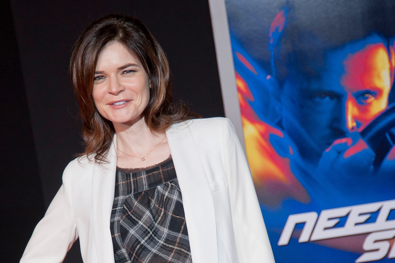 HOLLYWOOD, CA - MARCH 06: Actress Betsy Brandt arrives at the premiere of DreamWorks Pictures' 'Need For Speed' at TCL Chinese Theatre on March 6, 2014 in Hollywood, California. (Photo by Tom Sorensen/Moovieboy Pictures)