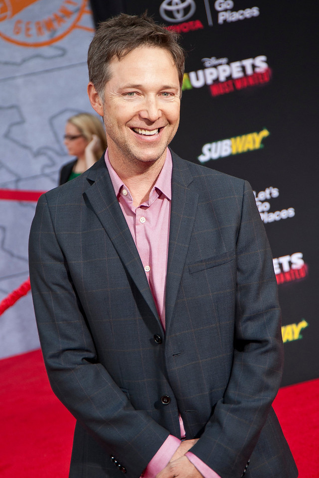 HOLLYWOOD, CA - MARCH 11: Actor George Newbern arrives for the premiere of Disney's 'Muppets Most Wanted' at the El Capitan Theatre on Tuesday March 11, 2014 in Hollywood, California. (Photo by Tom Sorensen/Moovieboy Pictures)