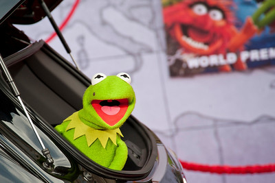 HOLLYWOOD, CA - MARCH 11: Muppet character Constantine arrives for the premiere of Disney's 'Muppets Most Wanted' at the El Capitan Theatre on Tuesday March 11, 2014 in Hollywood, California. (Photo by Tom Sorensen/Moovieboy Pictures)