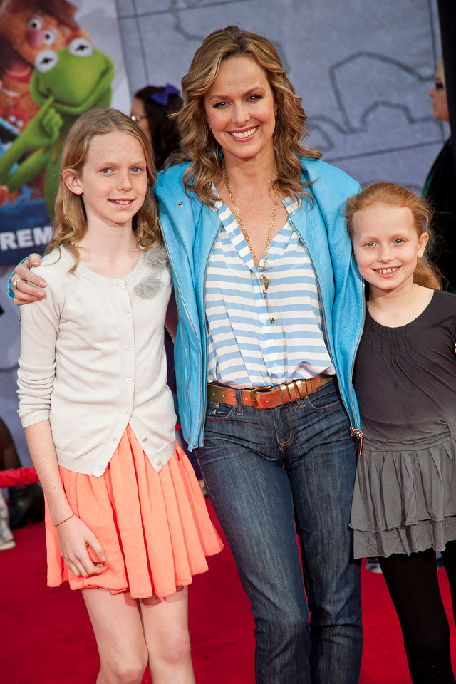 HOLLYWOOD, CA - MARCH 11: Actress Melora Hardin and family arrive for the premiere of Disney's 'Muppets Most Wanted' at the El Capitan Theatre on Tuesday March 11, 2014 in Hollywood, California. (Photo by Tom Sorensen/Moovieboy Pictures)
