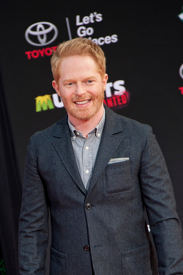 HOLLYWOOD, CA - MARCH 11: Actor Jesse Tyler Ferguson arrives for the premiere of Disney's 'Muppets Most Wanted' at the El Capitan Theatre on Tuesday March 11, 2014 in Hollywood, California. (Photo by Tom Sorensen/Moovieboy Pictures)