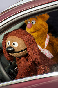 HOLLYWOOD, CA - MARCH 11: Muppet charcters Rowlf and Fozzie Bear arrive for the premiere of Disney's 'Muppets Most Wanted' at the El Capitan Theatre on Tuesday March 11, 2014 in Hollywood, California. (Photo by Tom Sorensen/Moovieboy Pictures)