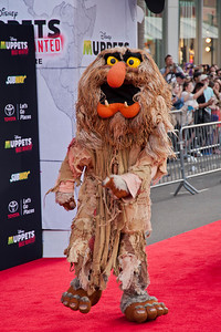 HOLLYWOOD, CA - MARCH 11: Muppet character Sweetums arrives for the premiere of Disney's 'Muppets Most Wanted' at the El Capitan Theatre on Tuesday March 11, 2014 in Hollywood, California. (Photo by Tom Sorensen/Moovieboy Pictures)
