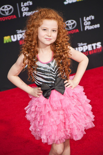 HOLLYWOOD, CA - MARCH 11: Actress Francesca Capaldi arrives for the premiere of Disney's 'Muppets Most Wanted' at the El Capitan Theatre on Tuesday March 11, 2014 in Hollywood, California. (Photo by Tom Sorensen/Moovieboy Pictures)