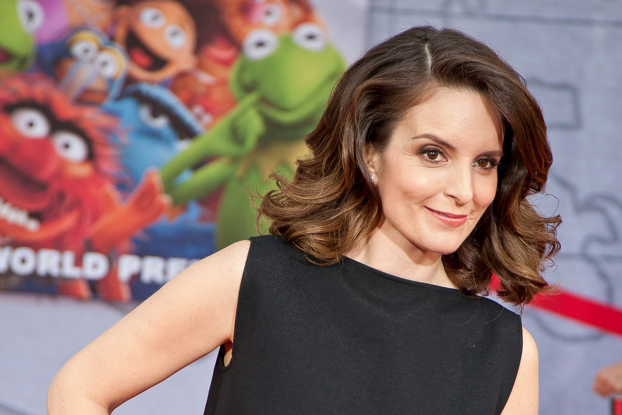 HOLLYWOOD, CA - MARCH 11: Actress Tina Fey arrives for the premiere of Disney's 'Muppets Most Wanted' at the El Capitan Theatre on Tuesday March 11, 2014 in Hollywood, California. (Photo by Tom Sorensen/Moovieboy Pictures)