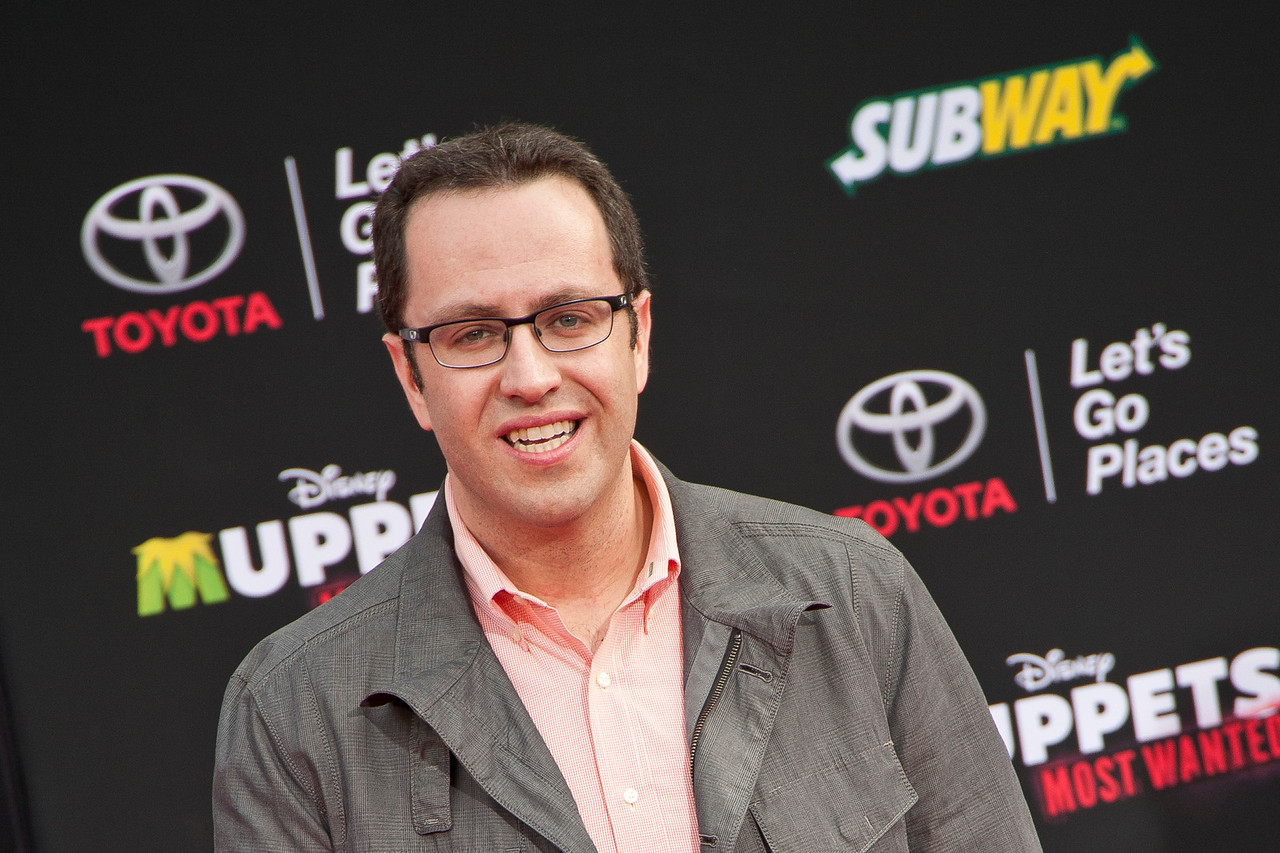 HOLLYWOOD, CA - MARCH 11: Actor Jared Fogle arrives for the premiere of Disney's 'Muppets Most Wanted' at the El Capitan Theatre on Tuesday March 11, 2014 in Hollywood, California. (Photo by Tom Sorensen/Moovieboy Pictures)