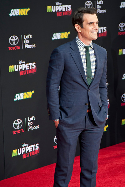 HOLLYWOOD, CA - MARCH 11: Actor Ty Burrell arrives for the premiere of Disney's 'Muppets Most Wanted' at the El Capitan Theatre on Tuesday March 11, 2014 in Hollywood, California. (Photo by Tom Sorensen/Moovieboy Pictures)