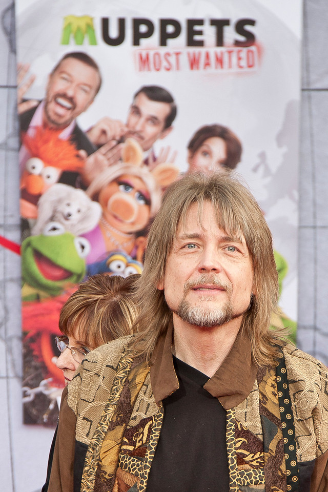 HOLLYWOOD, CA - MARCH 11: Puppeteer Steve Whitmire  arrives for the premiere of Disney's 'Muppets Most Wanted' at the El Capitan Theatre on Tuesday March 11, 2014 in Hollywood, California. (Photo by Tom Sorensen/Moovieboy Pictures)