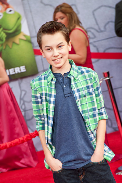 HOLLYWOOD, CA - MARCH 11: Actor Hayden Byerly arrives for the premiere of Disney's 'Muppets Most Wanted' at the El Capitan Theatre on Tuesday March 11, 2014 in Hollywood, California. (Photo by Tom Sorensen/Moovieboy Pictures)