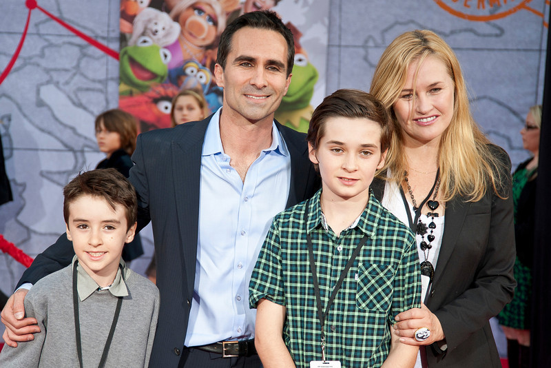 HOLLYWOOD, CA - MARCH 11: Actor Nestor Carbonell and family arrive for the premiere of Disney's 'Muppets Most Wanted' at the El Capitan Theatre on Tuesday March 11, 2014 in Hollywood, California. (Photo by Tom Sorensen/Moovieboy Pictures)