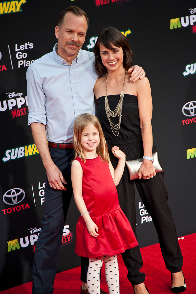 HOLLYWOOD, CA - MARCH 11: Constance Zimmer and family arrive for the premiere of Disney's 'Muppets Most Wanted' at the El Capitan Theatre on Tuesday March 11, 2014 in Hollywood, California. (Photo by Tom Sorensen/Moovieboy Pictures)