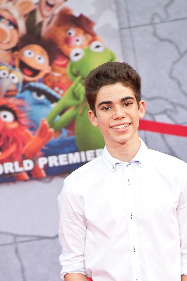HOLLYWOOD, CA - MARCH 11: Actor Cameron Boyce arrives for the premiere of Disney's 'Muppets Most Wanted' at the El Capitan Theatre on Tuesday March 11, 2014 in Hollywood, California. (Photo by Tom Sorensen/Moovieboy Pictures)