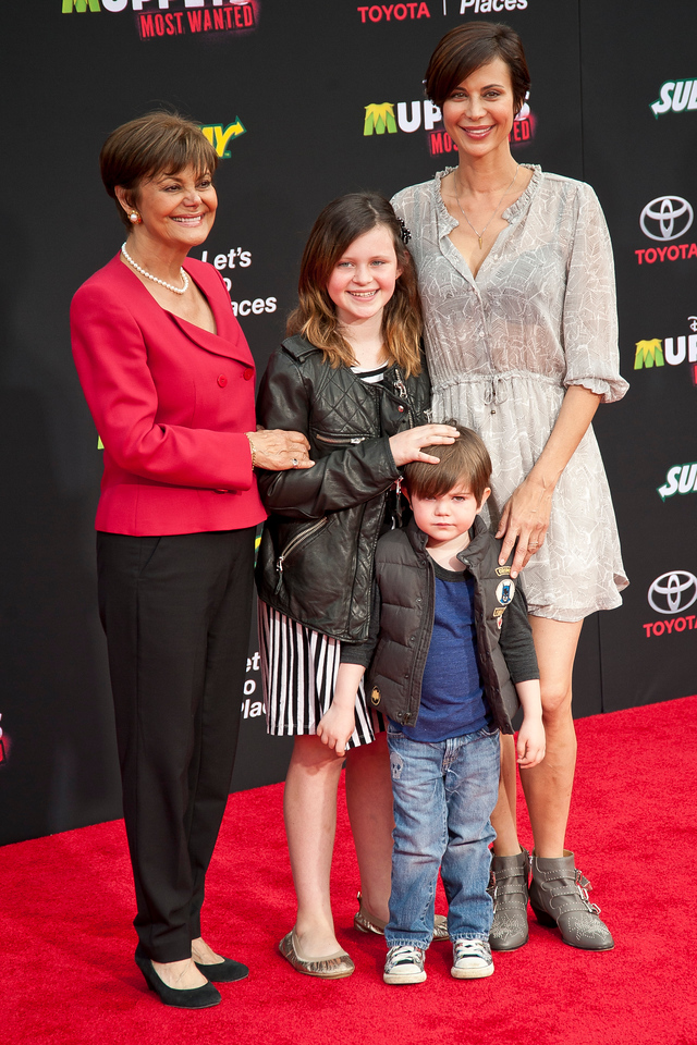 HOLLYWOOD, CA - MARCH 11: Actress Catherine Bell and guests arrive for the premiere of Disney's 'Muppets Most Wanted' at the El Capitan Theatre on Tuesday March 11, 2014 in Hollywood, California. (Photo by Tom Sorensen/Moovieboy Pictures)