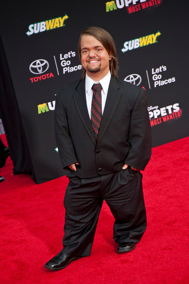 HOLLYWOOD, CA - MARCH 11: Actor Dylan Hornswoggle arrives for the premiere of Disney's 'Muppets Most Wanted' at the El Capitan Theatre on Tuesday March 11, 2014 in Hollywood, California. (Photo by Tom Sorensen/Moovieboy Pictures)